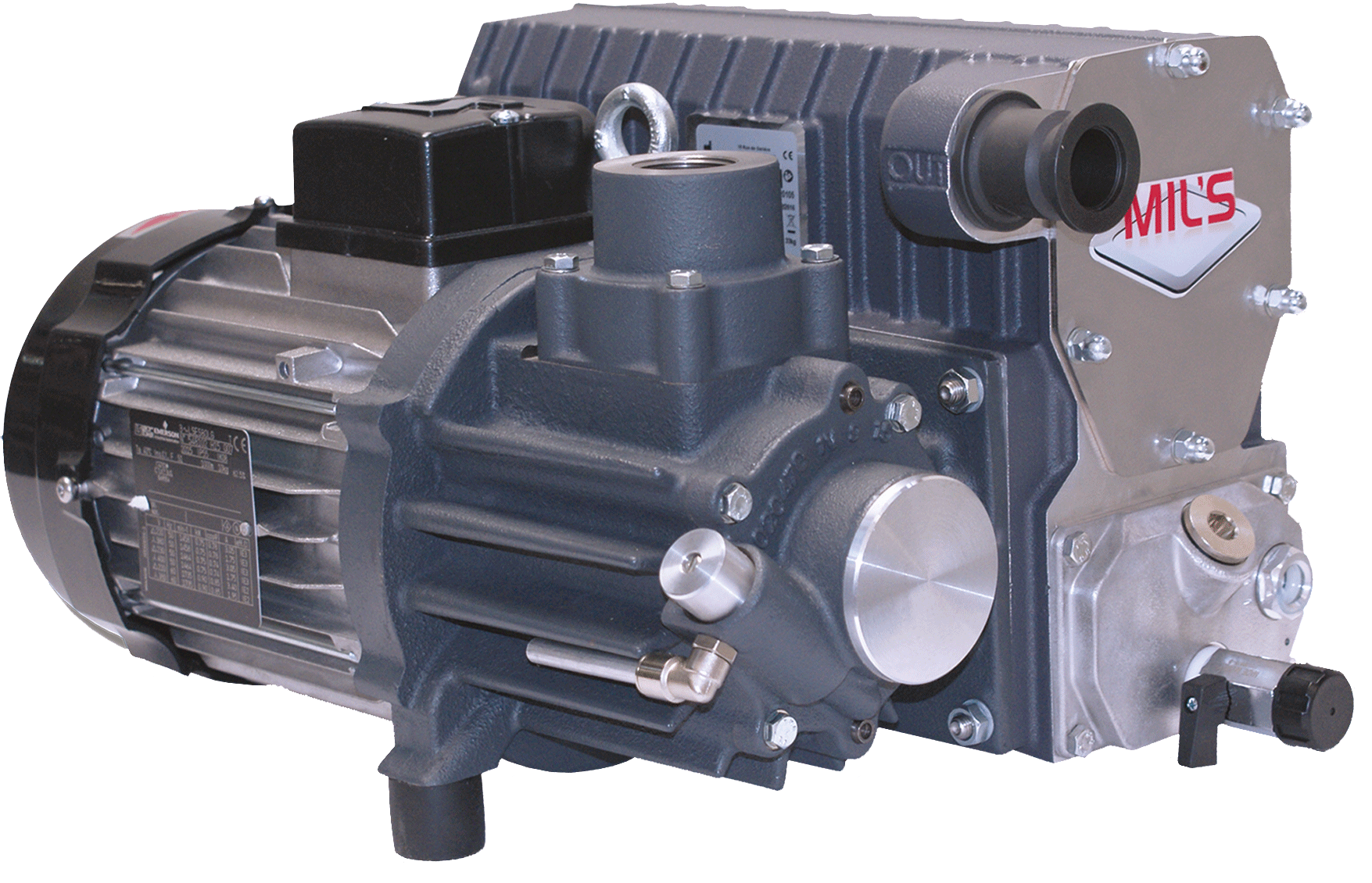 Lubricated rotary vane vacuum pumps EVISA