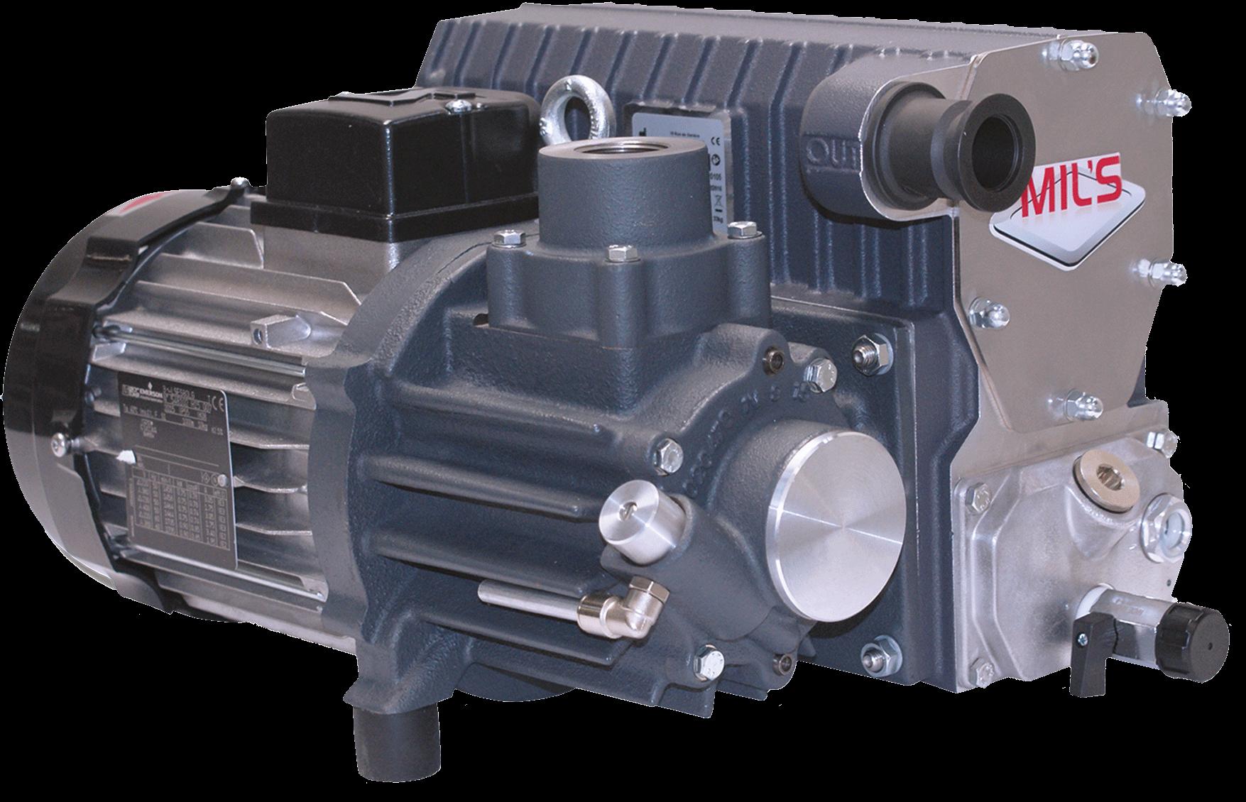 Lubricated rotary vane vacuum pumps EVISA